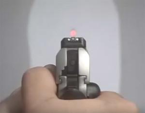 zeroing in a pistol laser sight
